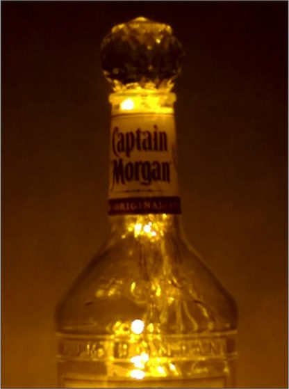 Captain Morgan Bottle Light with 30% Asfour Crystal Prism Ball