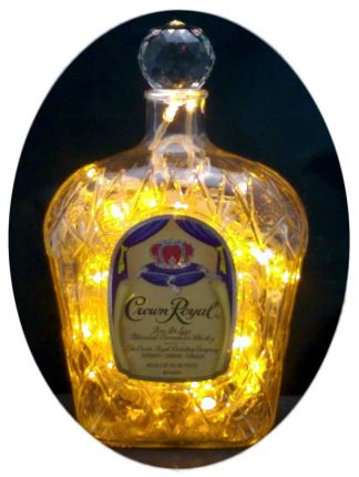 Crown Royal Mood Therapy Bottle Lamp - Gold