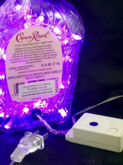 Crown Royal Bottle Light with 8 Function Controller - Purple