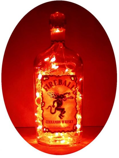 Fireball Cinnamon Whisky Mood Therapy Bottle Light with Red LED's