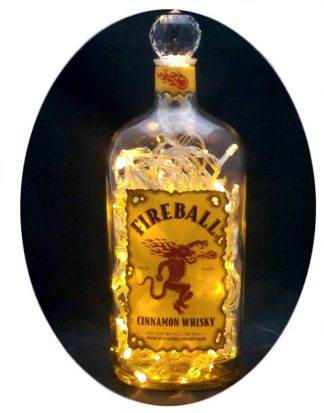 Fireball Whisky Mood Therapy Light with Asfour Crystal Prism Ball - Gold