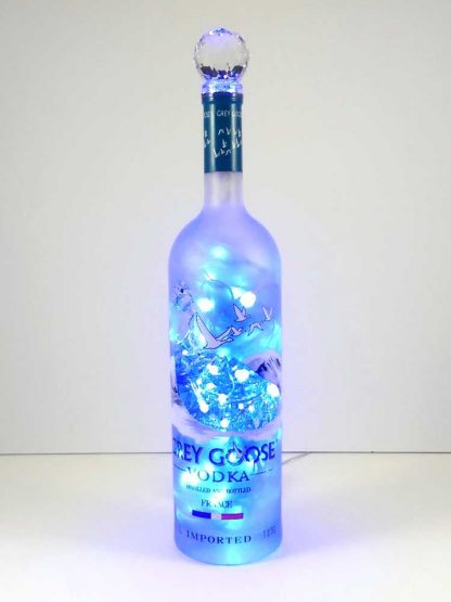 Grey Goose Mood Therapy Bottle Lamp with Blue LED's