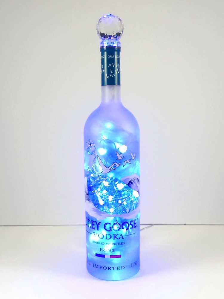 Grey Goose Liquor Bottle Light Blue Led S The Bottle