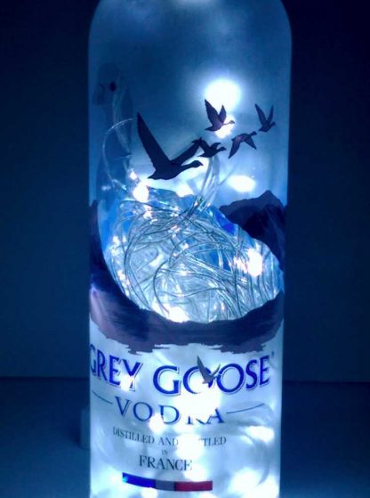 Grey Goose Mood Therapy Bottle Lamp with White LED's