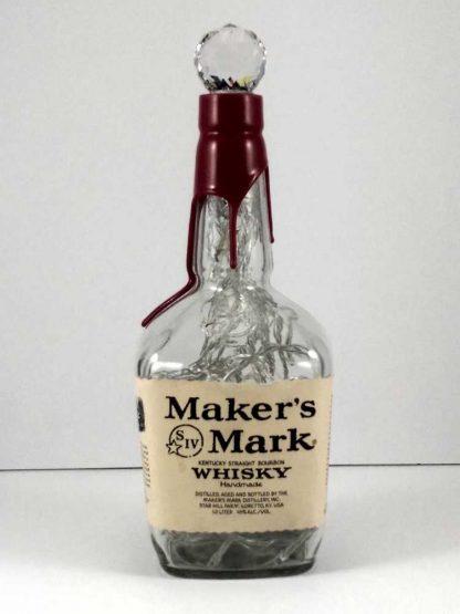 Upcycled Maker's Mark Whisky Bottle Light - Off