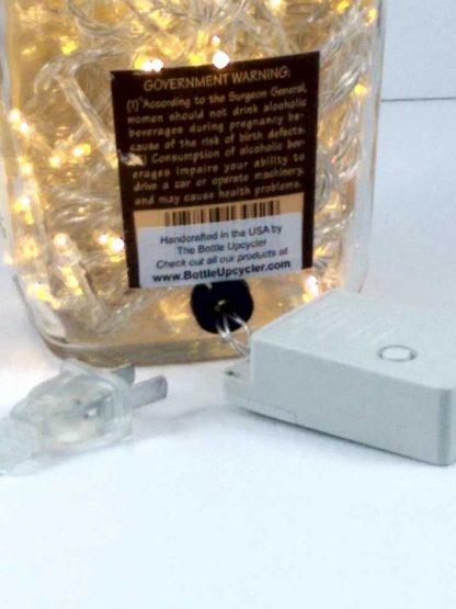 Maker's Mark Whisky Bottle Light with 8 Function LED Controller - Gold