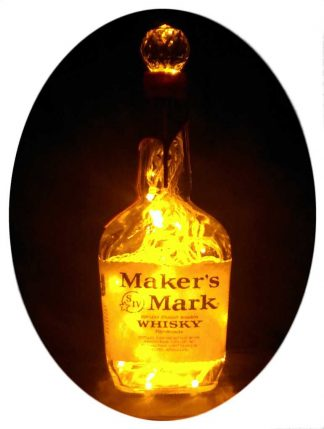 Maker's Mark Whisky Bottle Light with Gold LED's