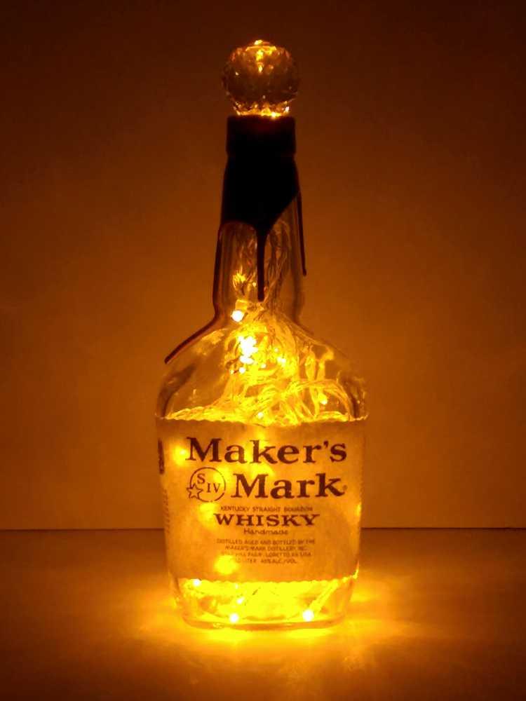 Maker S Mark Liquor Bottle Light Gold Led S The Bottle
