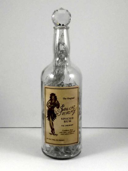 Upcycled Sailor Jerry Spiced Rum Mood Therapy Bottle Light - Off