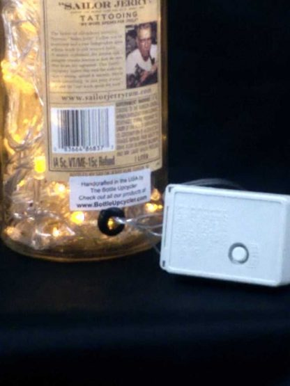 Sailor Jerry Spiced Rum Bottle Light with 8 Function LED Controller - Gold