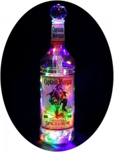 Captain Morgan Multi-Colored Mood Therapy Bottle Light
