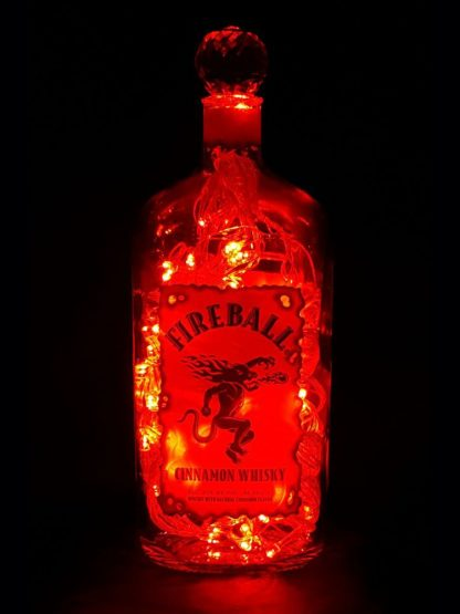 Fireball Whisky Mood Therapy Liquor Bottle Light - Red