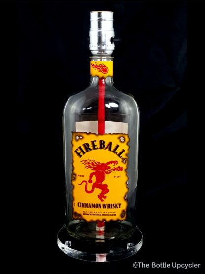 All Lit Up Fireball Liquor Bottle Lamp w/o Lamp Shade
