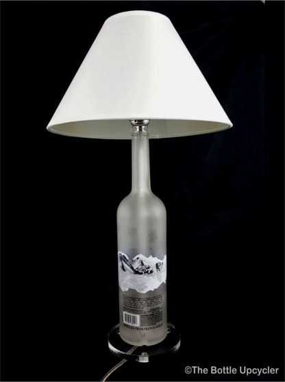 All Lit Up Grey Goose Liquor Bottle Lamp with Lamp Shade - Back