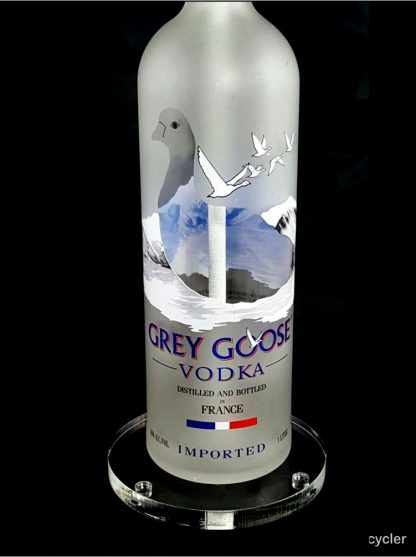 All Lit Up Grey Goose Liquor Bottle Lamp with Acrylic Base