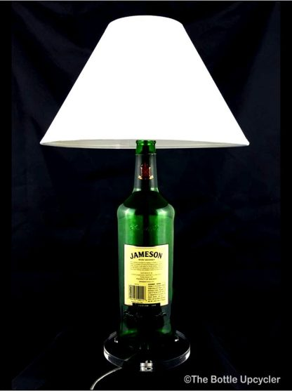 All Lit Up Jameson Liquor Bottle Lamp with Lamp Shade - Back