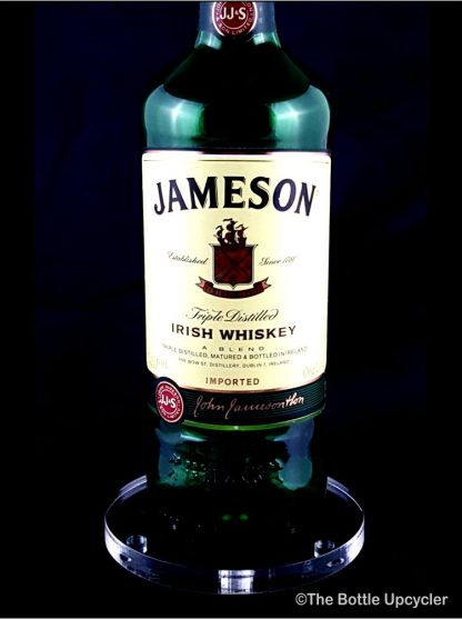 All Lit Up Jameson Liquor Bottle Lamp with Acrylic Base