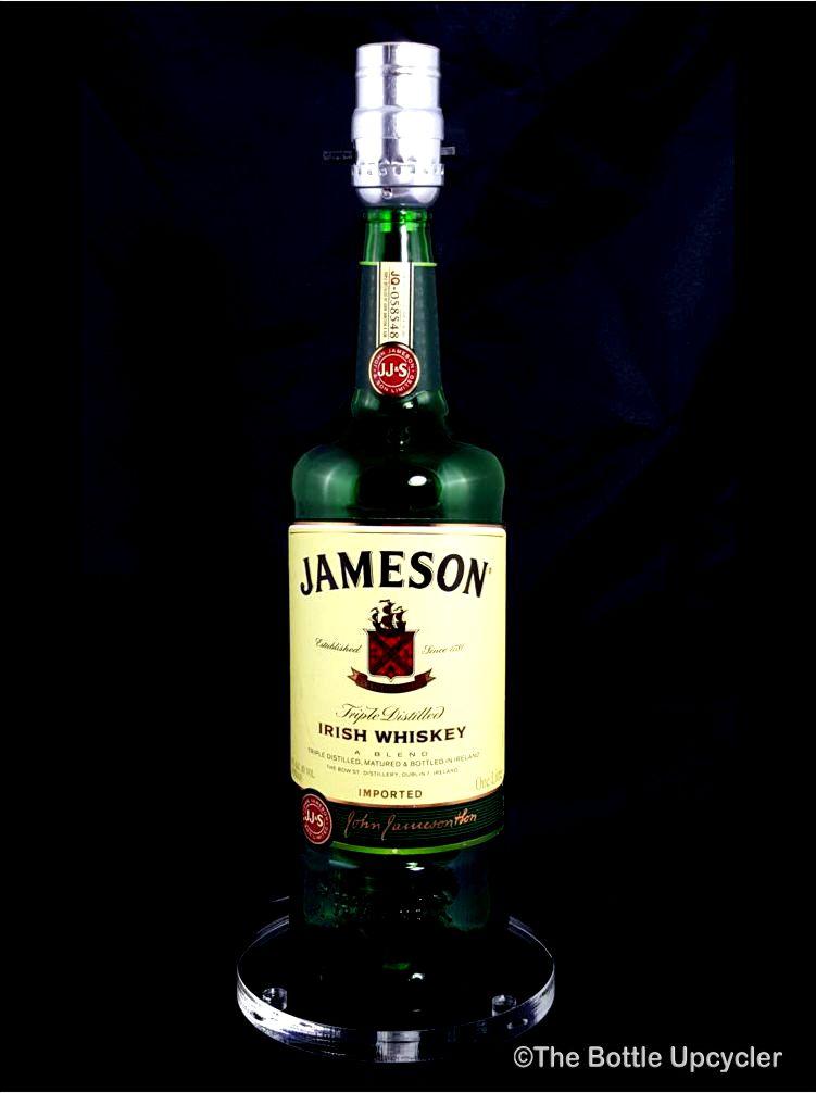 All Lit Up Jameson Liquor Bottle Lamp W/o Lamp Shade