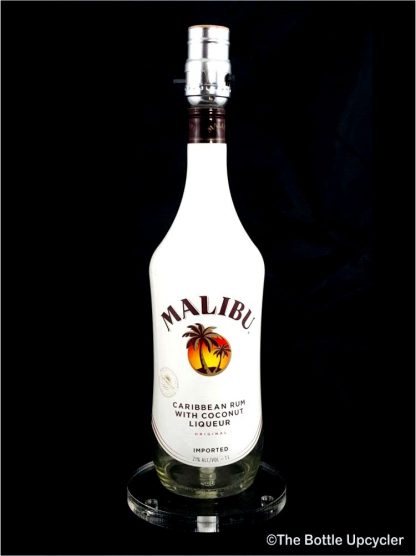All Lit Up Malibu Rum Liquor Bottle Lamp w/o Lamp Shade