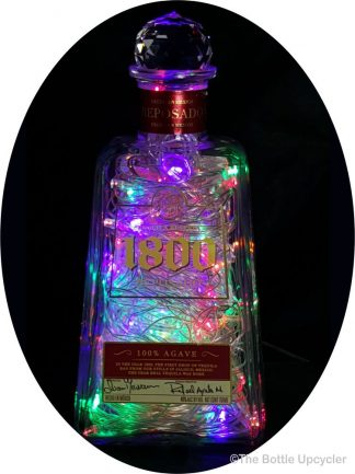 Upcycled 1800 Reposado Tequila Mood Therapy Liquor Bottle Light