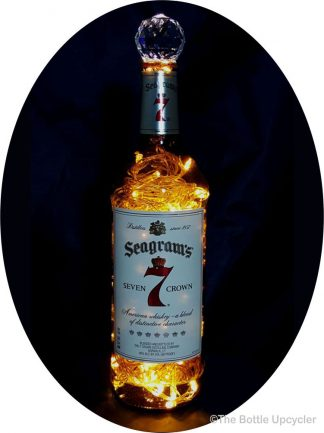 Upcycled Seagram's 7 Mood Therapy Liquor Bottle Light