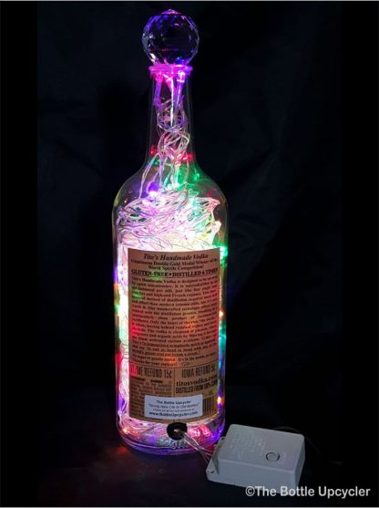 Upcycled Tito's Vodka Mood Therapy Liquor Bottle Light